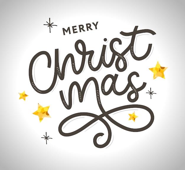 Счастливого рождества, золото, блестящие надписи иллюстрации