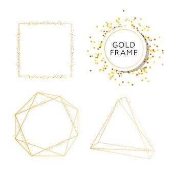 デザインゴールドファッションベクターアートとバナー