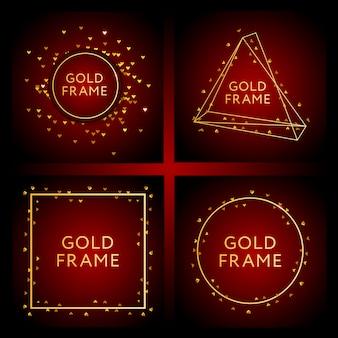 Баннер с дизайном золота моды векторной графики
