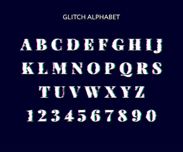 アルファベットグリッチ