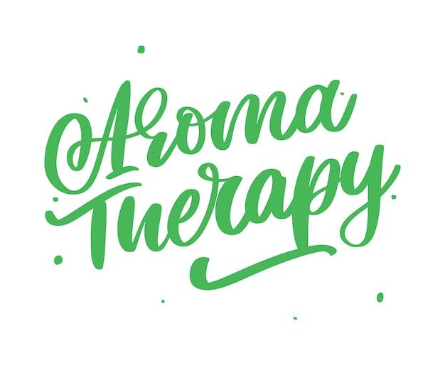 Ароматерапия письмо. нетрадиционная медицина. концепция здорового образа жизни. органический знак
