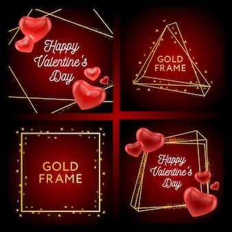 バレンタインのポスター、カード、ラベル、バナーバレンタインのデザイン要素のベクター要素。タイポグラフィ愛の心