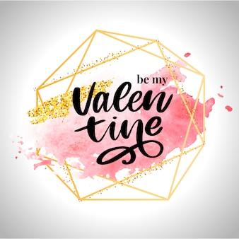 バレンタインの日の要素のためのバレンタインポスター、カード、ラベル、バナー文字スローガン要素。タイポグラフィ愛の心