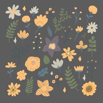 Цветочный букет рисованной
