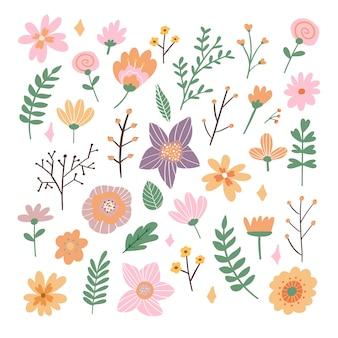 Цветочный букет рисованной фантазии народных цветов иллюстрации