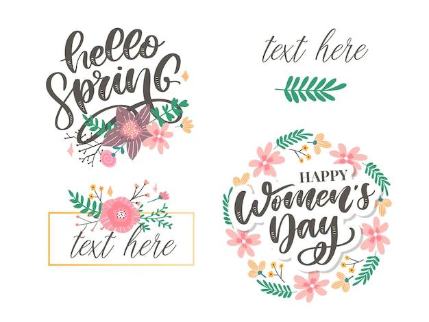 Привет весна и женский день цветов