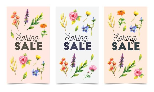 カラフルな花の販売バッジ