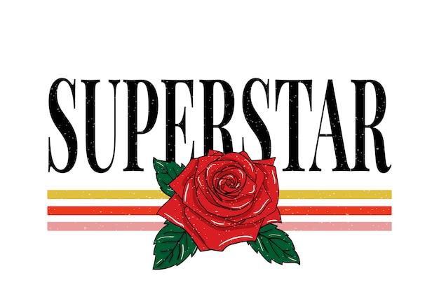 Слоган суперзвезда, модная каллиграфия