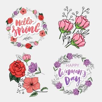 幸せな女性の日カード