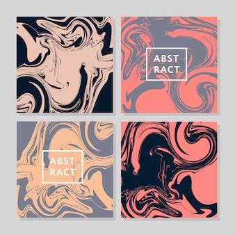 Векторные чернила текстуры акварель рисованной мраморность иллюстрации, абстрактный фон, аква принт