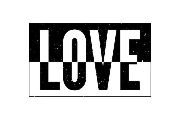 現代のファッションスローガンを描く愛タイポグラフィスローガン