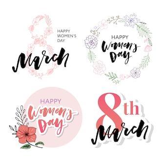 国際女性の日グリーティングカードセット