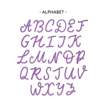 Типография алфавит шрифт