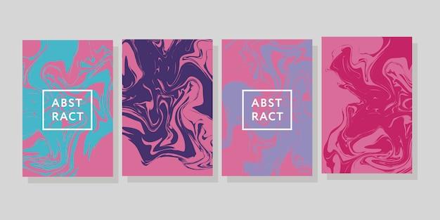 ベクトルインクテクスチャ水彩手描きマーブリングイラスト、抽象的な背景、アクアプリント