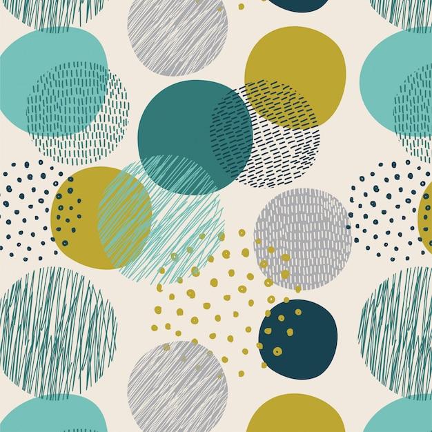 抽象的なシームレスなサークルパターン。抽象的なドット