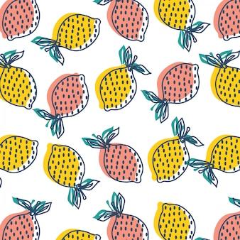 レモンのシームレスなパターン。