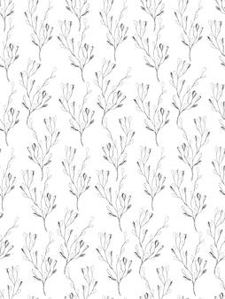 Простые цветочные ветви бесшовные модели