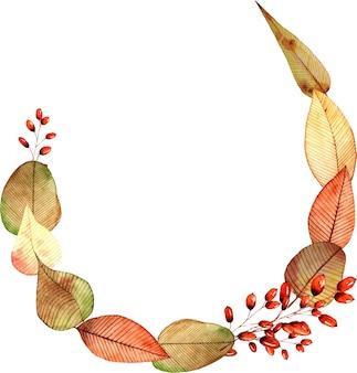 花の枝の花輪