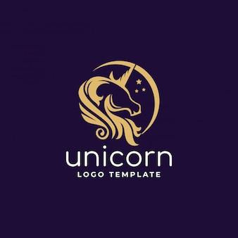 Единорог логотип с полумесяцем