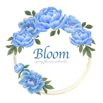 Ботанические цветы элегантность венок