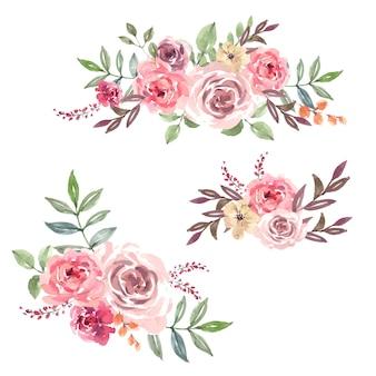特別な日の花束カード、創造的な水彩画