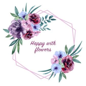 特別な日の花束カード、エキゾチックな水彩画