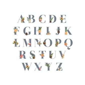 秋をテーマにしたアルファベット