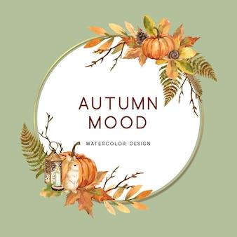 秋をテーマにした花輪
