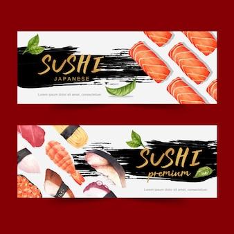 寿司レストランバナー