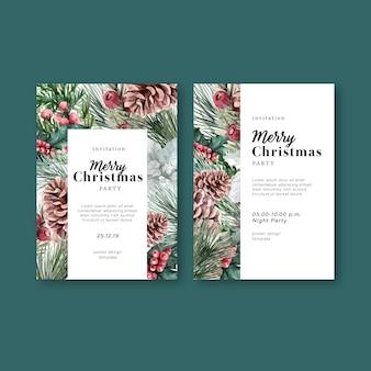 冬の花の咲くエレガントな結婚式の招待カード装飾ヴィンテージの美しい