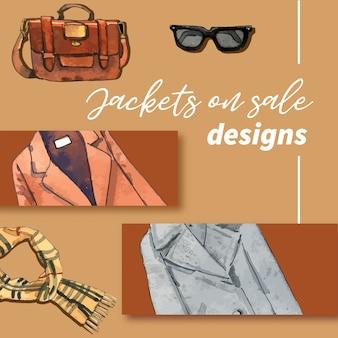 Иллюстрация зимней одежды и аксессуаров