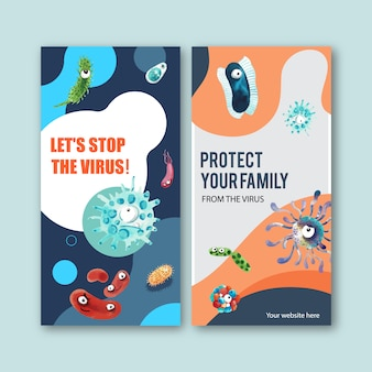 Шаблоны сюжетов вирусной инстаграммы в стиле акварели