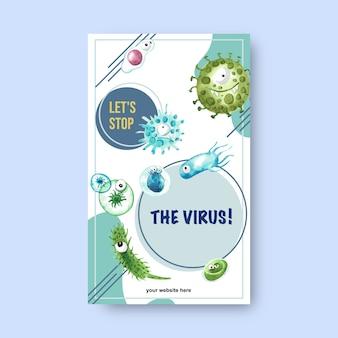 Флаер с предупреждением о вирусной эпидемии