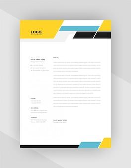 Уникальная концепция фирменный бланк шаблон дизайна.