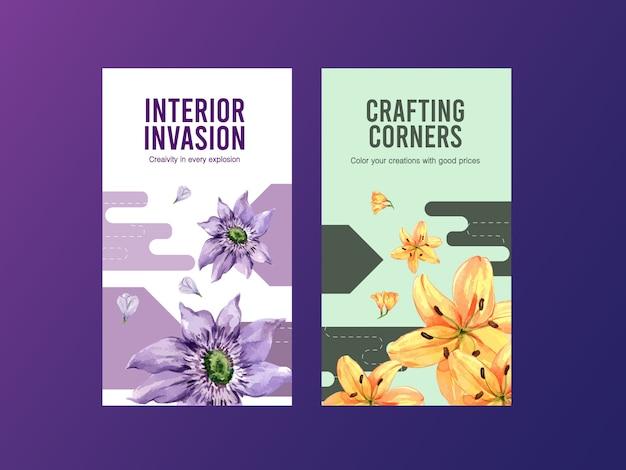 Инстаграм шаблон с весенними цветами