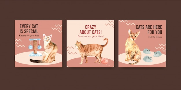 猫のいるテンプレートを宣伝する