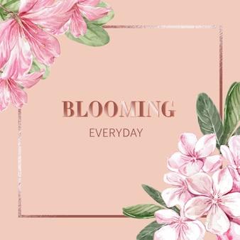 フレームと花の背景