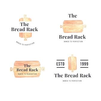 パン屋さんのロゴのセット
