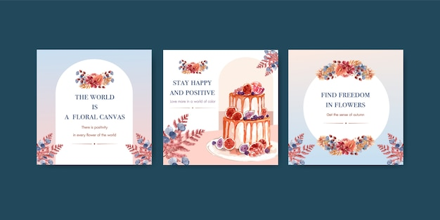 広告とマーケティングのための秋の花のコンセプトデザイン
