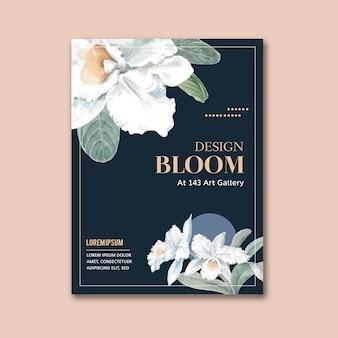 Цветочный плакат