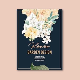 Цветочная открытка