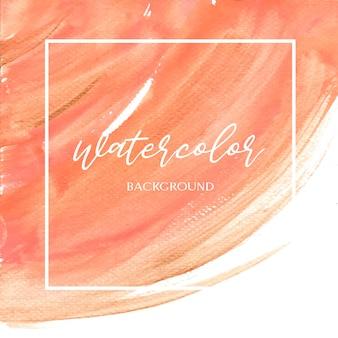 コーラルカラートレンディな貝殻水彩画とゴールドガッシュテクスチャ背景印刷壁紙