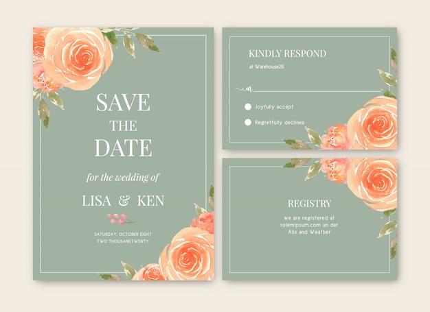 Свадебная открытка цветочная акварель, благодарственная открытка, приглашение на свадьбу
