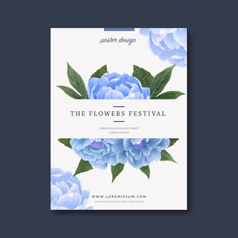 Цветочный плакат с цветочным орнаментом