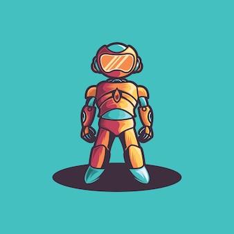 Робот логотип вектор