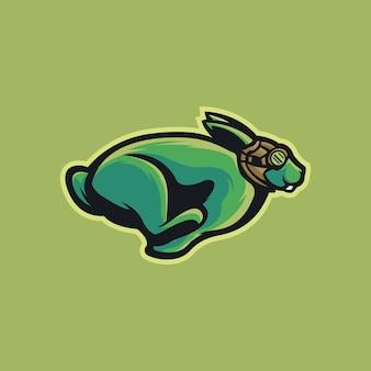 ウサギのロゴのテンプレート