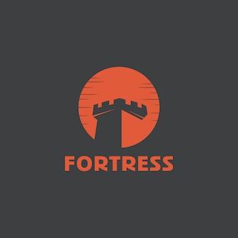 要塞のロゴのテンプレート