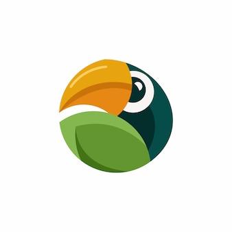 Шаблон логотипа тукан