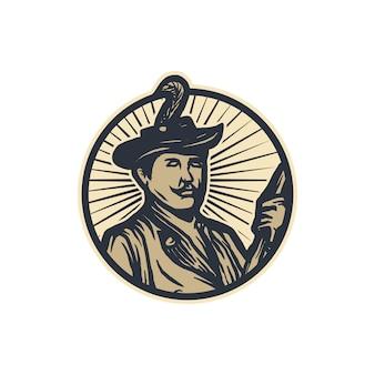 船長のロゴのテンプレート