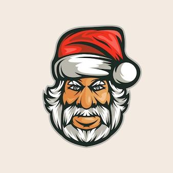 サンタクロースのロゴのテンプレート